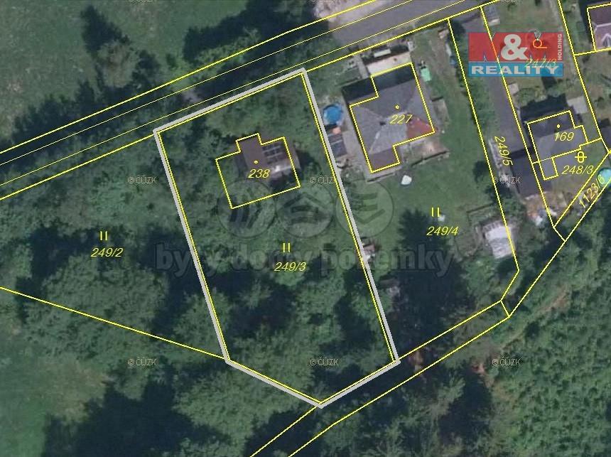 Prodej, stavební parcela, OV, 1.570 m2, Nejdek, část Suchá