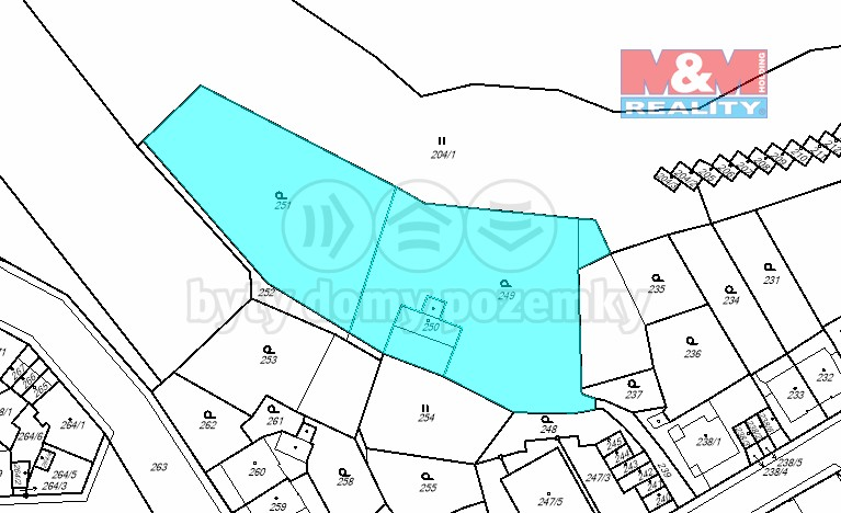 Katastrální mapa (Prodej, pozemek, 4076 m2, Ústí nad Labem - Střekov), foto 1/7