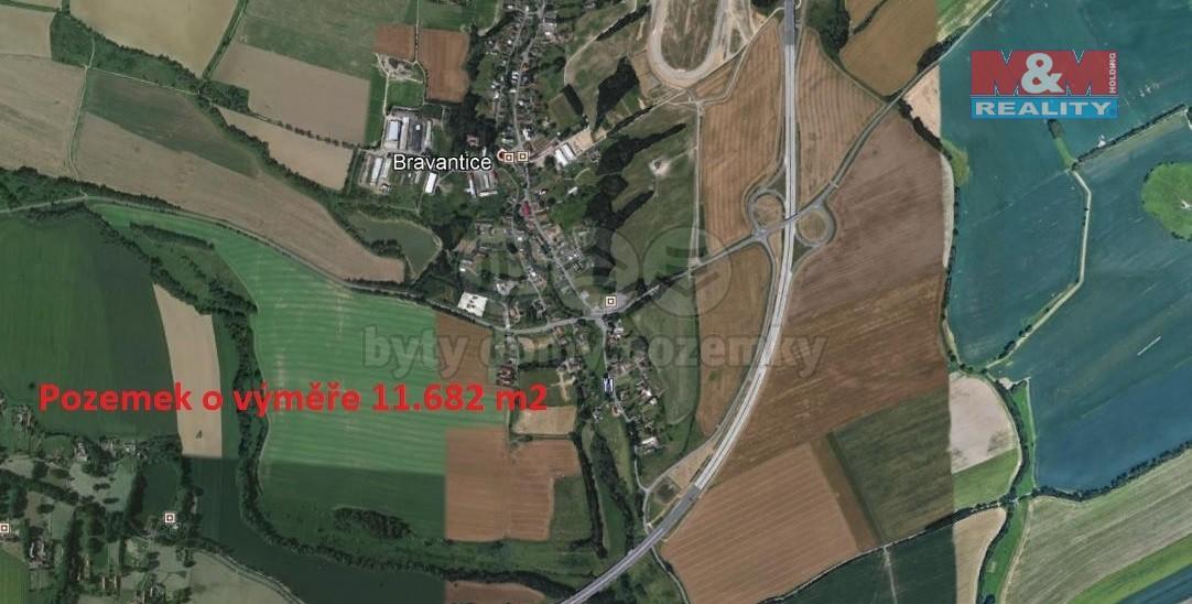 Prodej, louka, 11682 m2, Bravantice