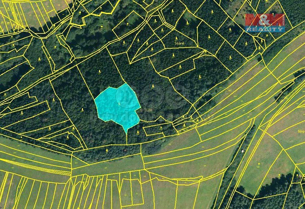 Prodej, les, 2240 m2, Drnovice u Valašských Klobouk