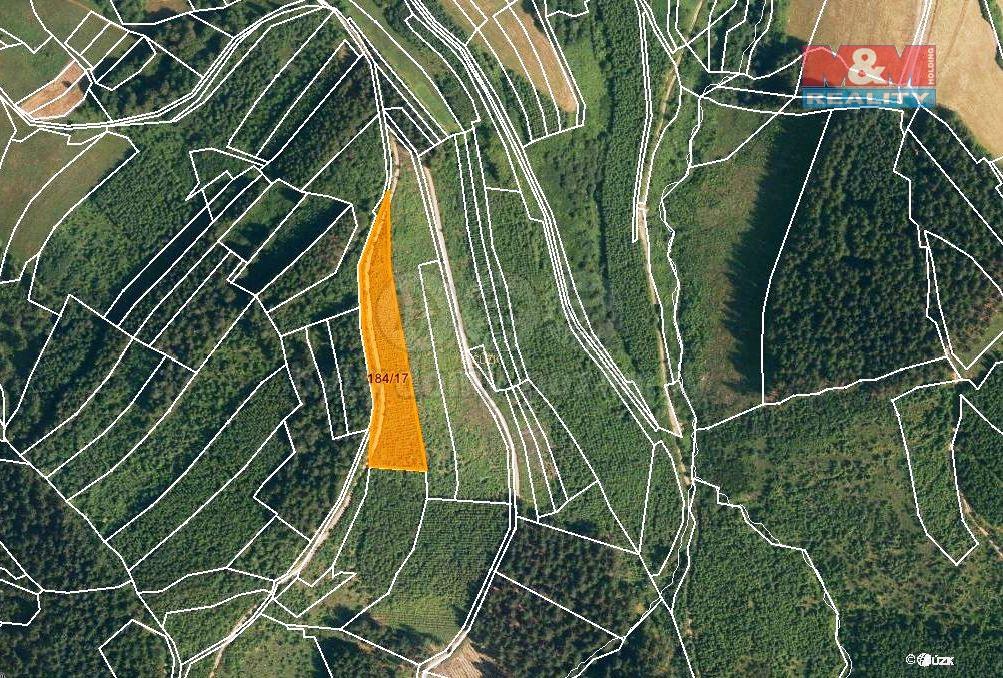 Prodej, les, 5445 m2, Lhota u Vsetína