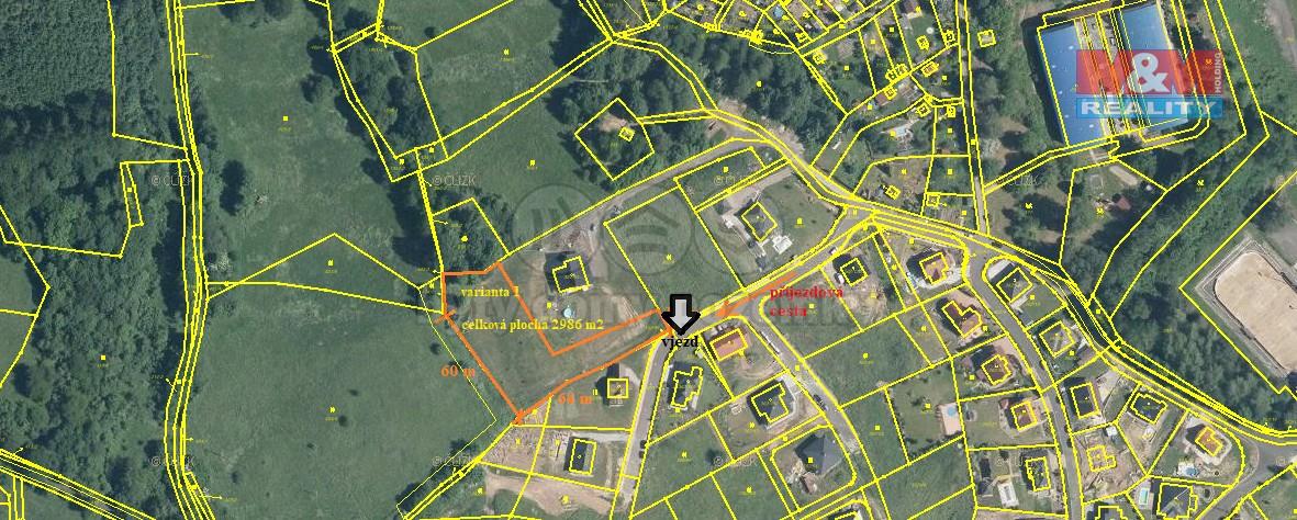 2986 (Prodej, stavební parcela 2986 m2, Povrly, ul. Na Palouku), foto 1/19