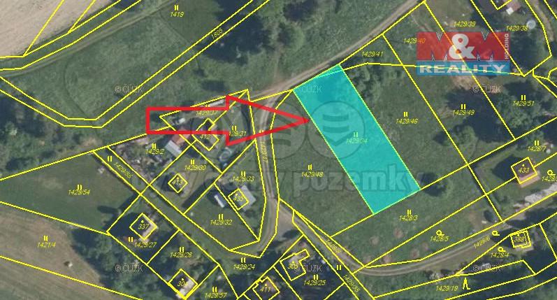 (Prodej, stavební pozemek, 1125 m2, Žinkovy - Čepinec)