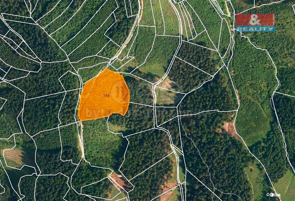 Prodej, les, 12578 m2. Lhota u Vsetína