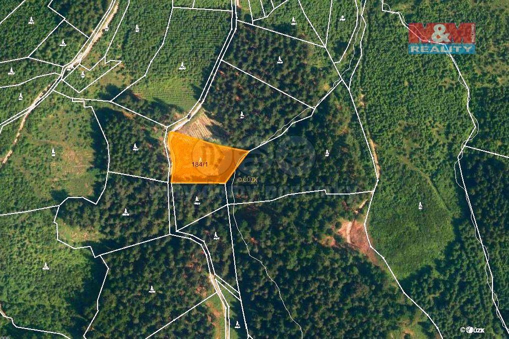 Prodej, les, 2930 m2, Lhota u Vsetína