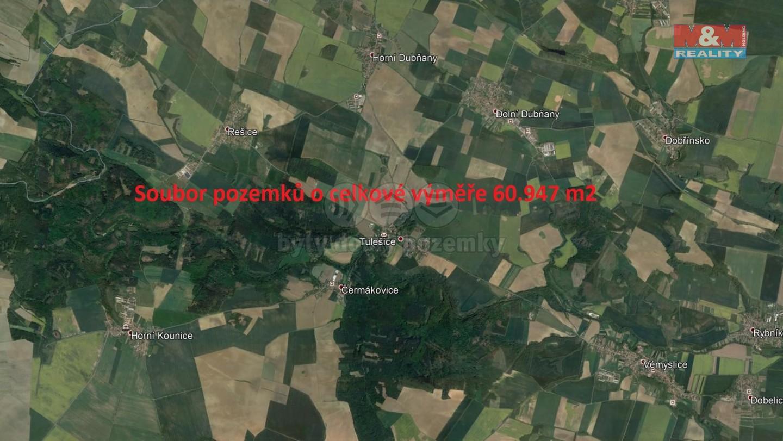Prodej, pole, 60947 m2, Tulešice