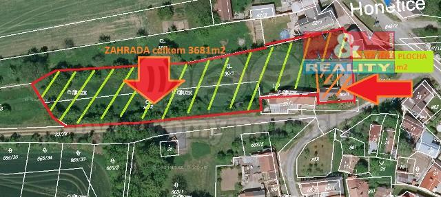 Prodej, stavební pozemek, 4007 m², Honětice