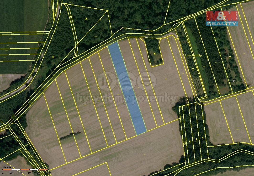 Prodej, orná půda, 3769 m2, Otrokovice