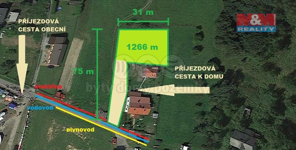 (Prodej, stavební pozemek, 1266 m2, Dolní Marklovice), foto 1/5