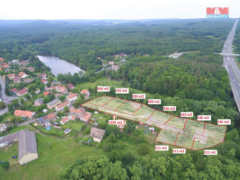 Prodej, pozemek, celková plocha 10.869 m2, Voznice u Dobříš (Prodej, pozemek,10869 m2, Voznice okr. Příbram), foto 1/5