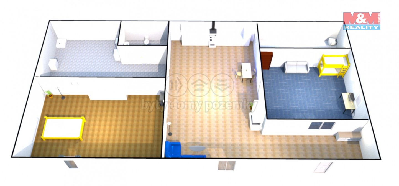 Prodej, rodinný dům, 631 m2, Želeč