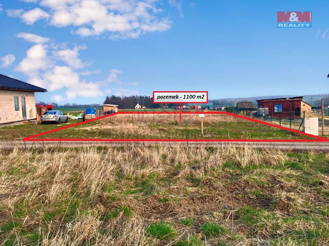 Prodej, stavební pozemek, 1100 m2 Heřmanova Huť- Vlkýš