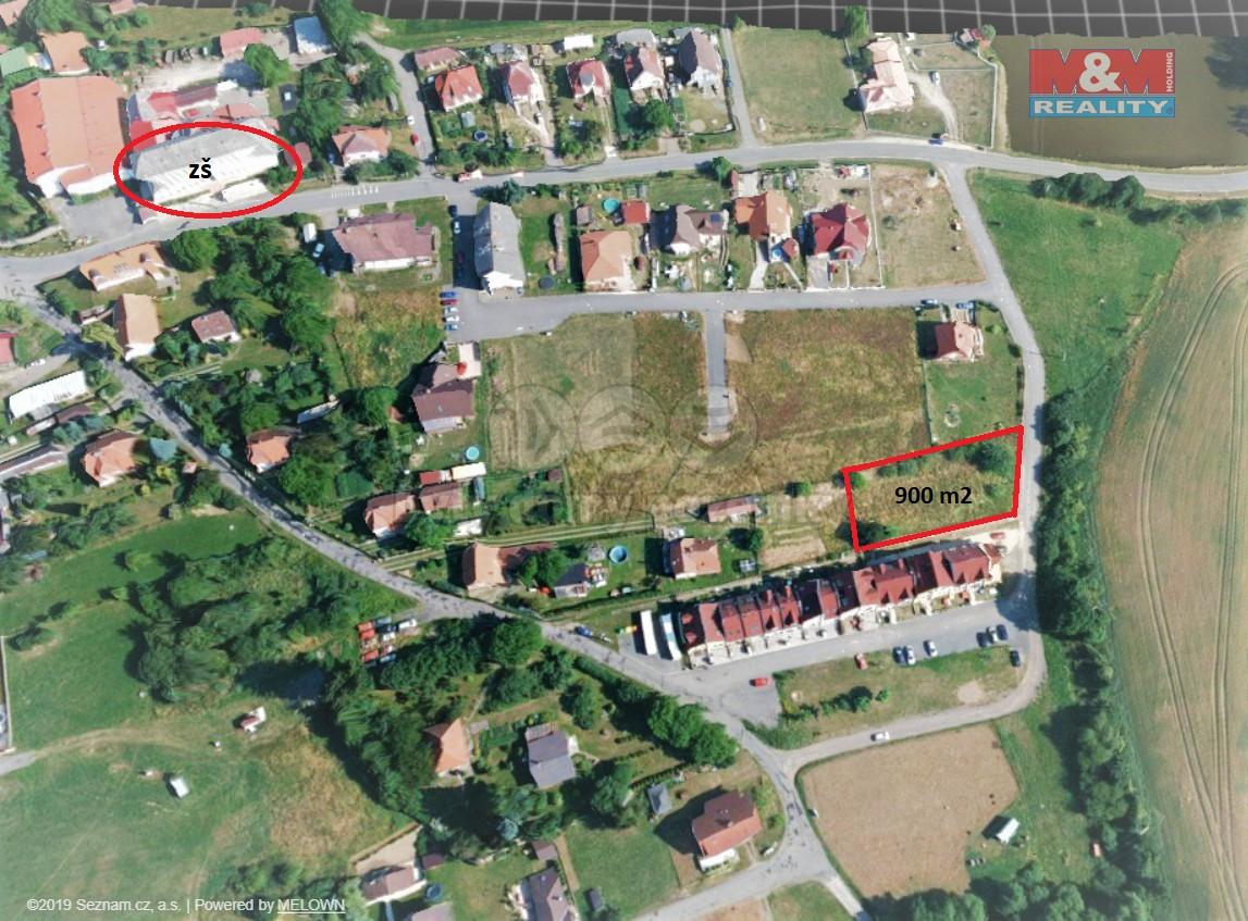 Prodej, pozemek, 900 m2, Borotín