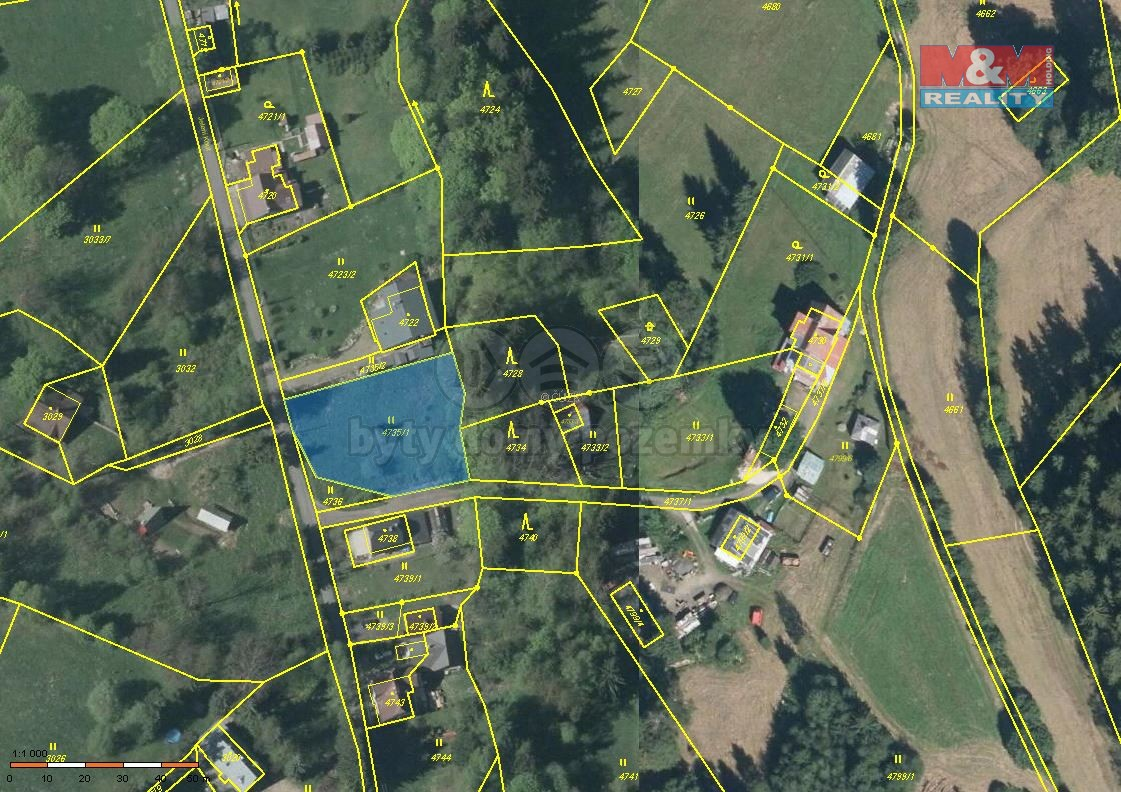Prodej, stavební parcela, 1309 m2, Smržovka, ul. Jelení kout