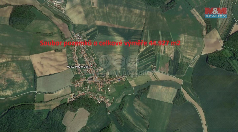 Prodej, pole, 44927 m2, Velké Hostěrádky
