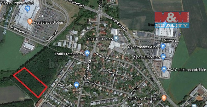 Prodej, les, 14038 m2, Pardubice