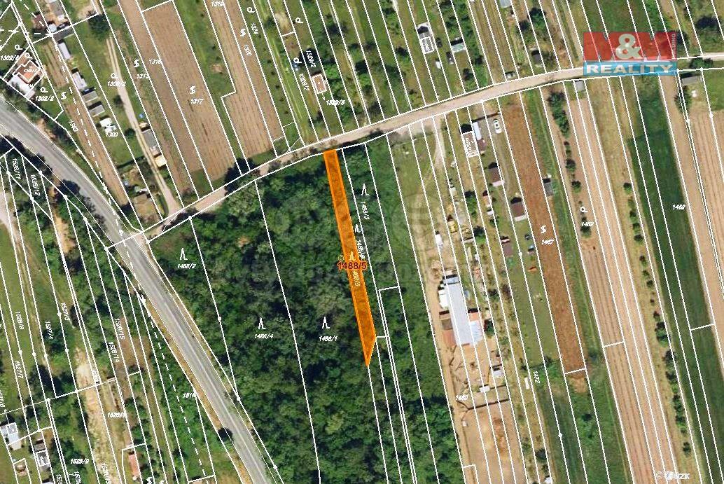 Prodej, les, 349 m2, Charvátská Nová Ves