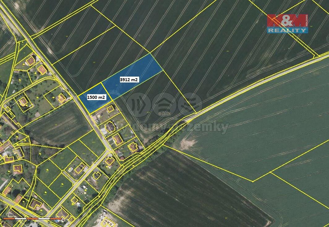 Prodej, pozemek 1677 m2, Křížkový Újezdec