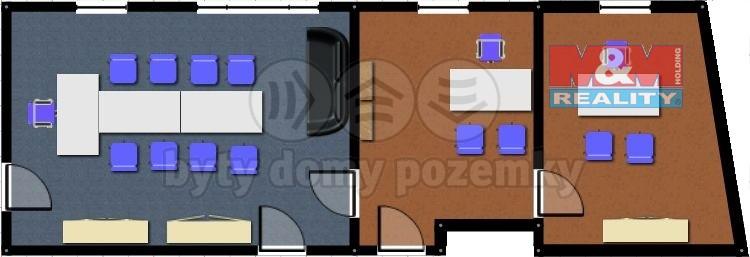 Pronájem, kancelářské prostory, 85 m2, Ostrava