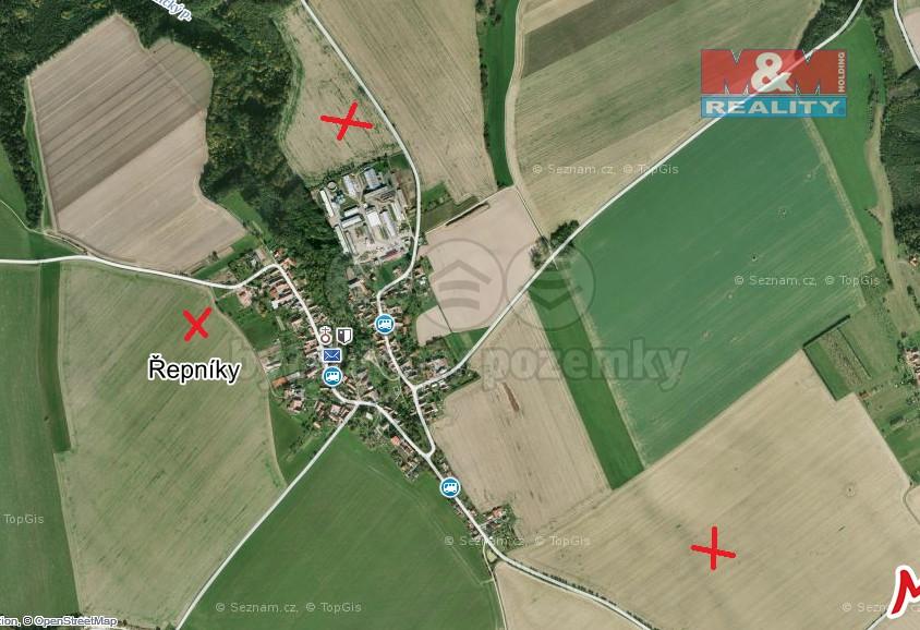 Prodej, orná půda, 84924 m2, Řepníky