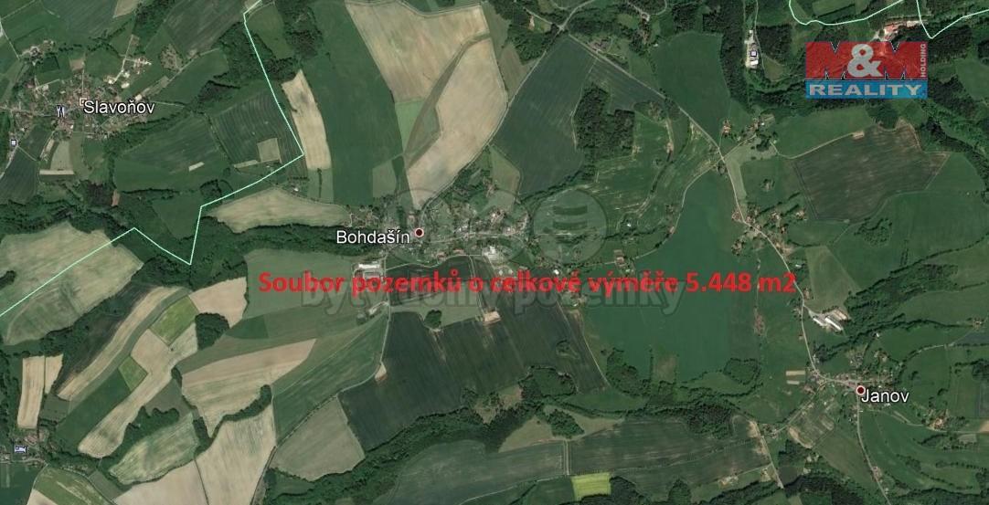 (Prodej, pole, 5448 m2, Bohdašín v Orlických horách)