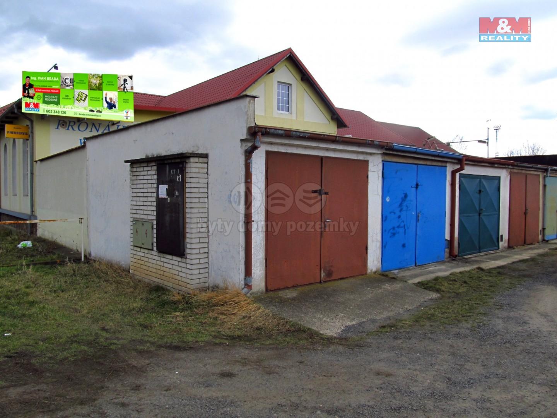 rohová garáž, snadné připojení elektřiny- jističová skříň na garáži (Prodej, garáž, 20 m2, Lovosice, ul. Terezínská), foto 1/5