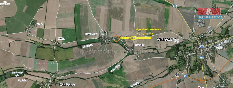 (Prodej, stavební parcela č. 2, 1261 m2, Bratkovice u Velvar), foto 1/21