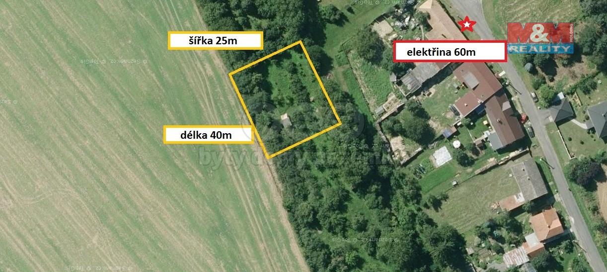 Prodej, stavební pozemek, 1000 m2, Skržice