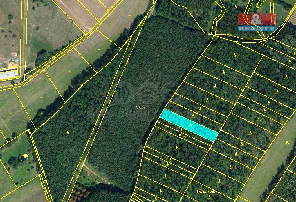 Prodej, les, 1476 m2, Uherčice u Hustopečí