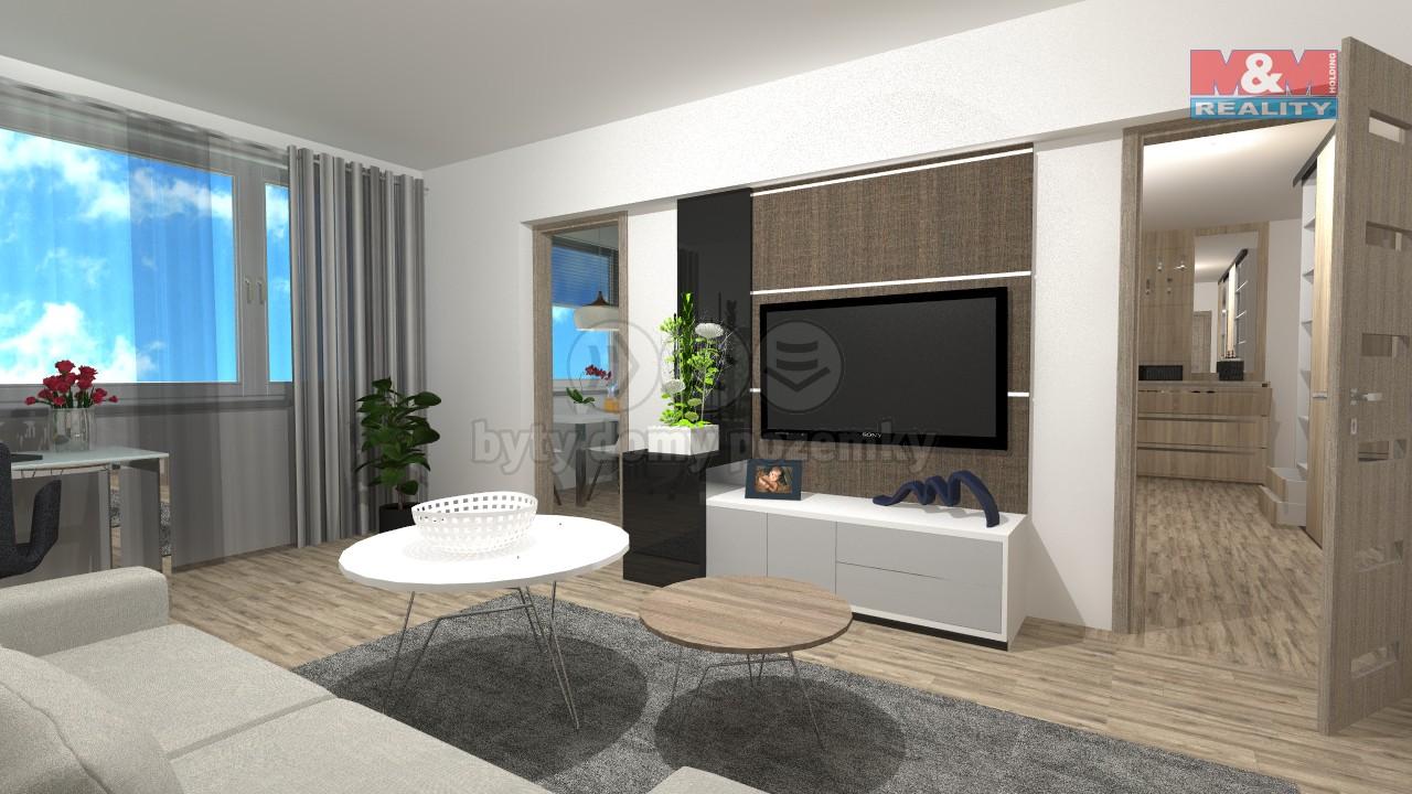 Prodej, byt 3+1, 72 m2, Prostějov, ul. Dobrovského
