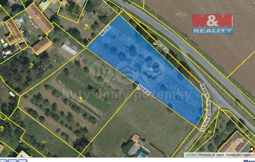 Prodej, stavební pozemek, 4190 m2, Řestoky