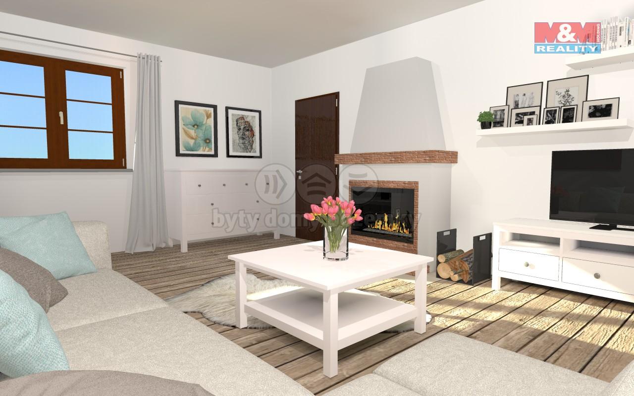 vizualizace - obývací pokoj