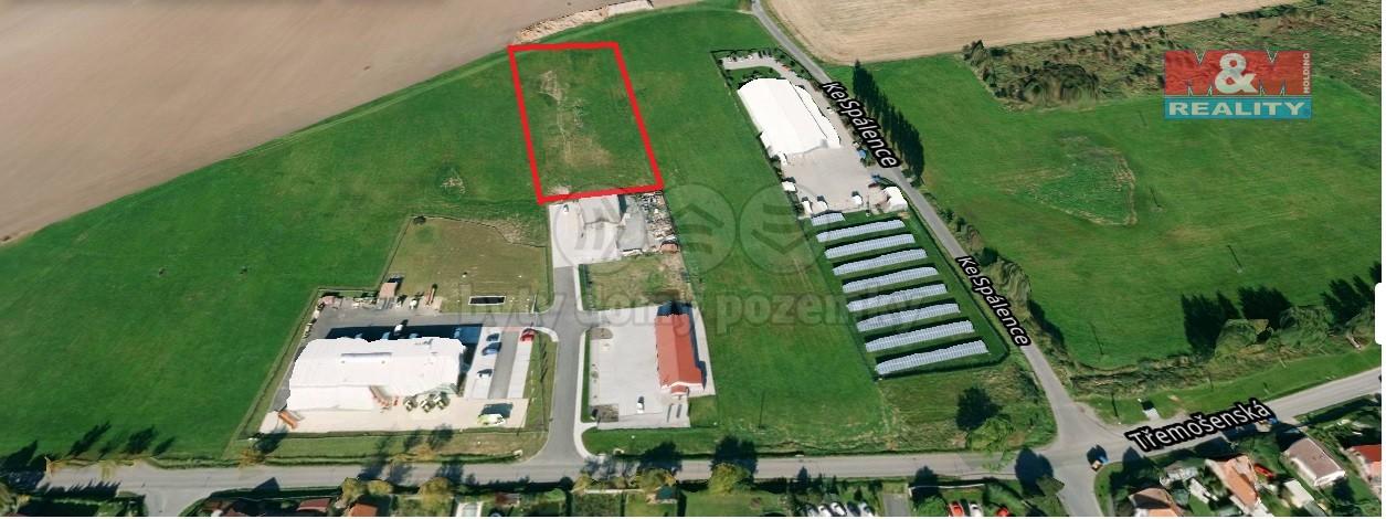 Prodej, komerční pozemek, 5430 m2, Zruč - Senec
