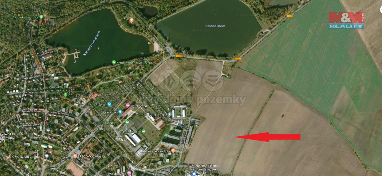 Prodej, pozemek, Chomutov