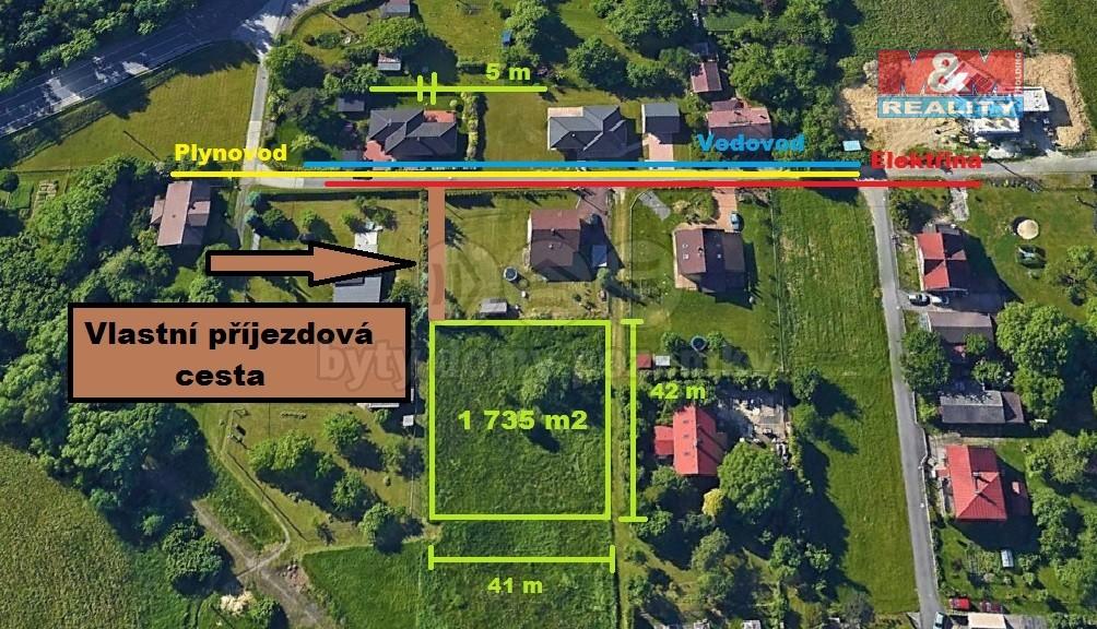 (Prodej, stavební pozemek, 1735 m2, Petřvald, ul. K Trati), foto 1/6