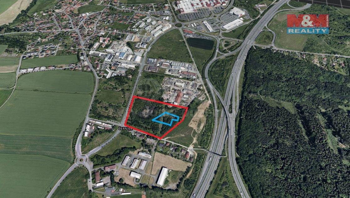 Prodej, stavební pozemek, 34835 m2, Plzeň-černice