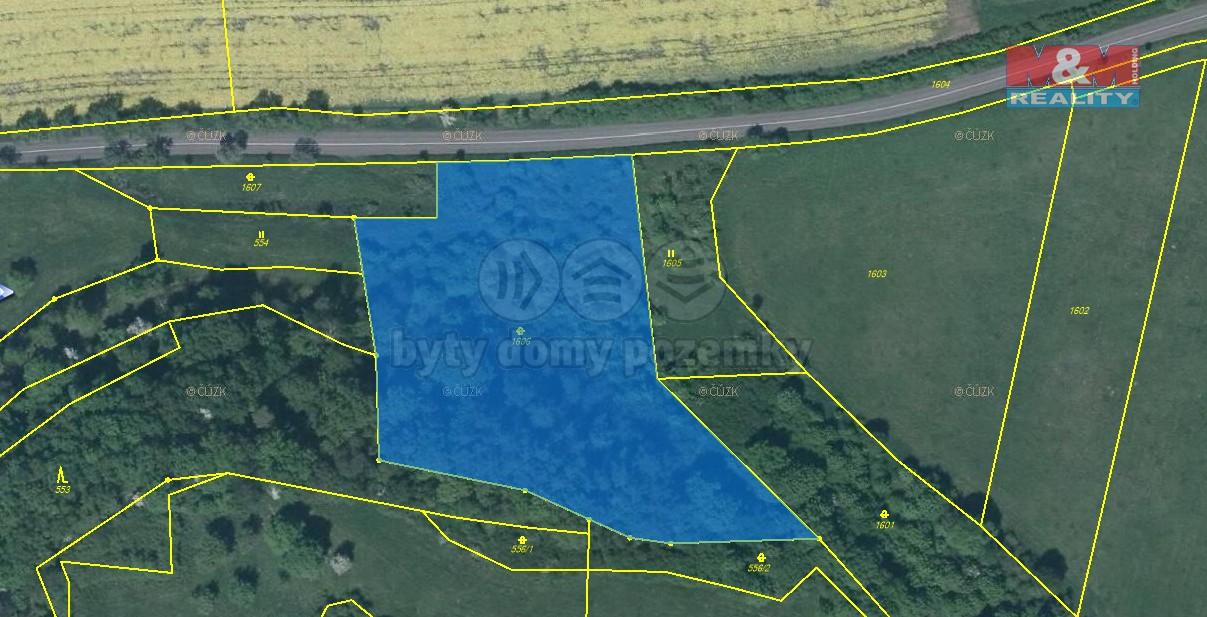 orto mapa (Prodej, pozemek, 7221 m2, Řehlovice - Brozánky), foto 1/5