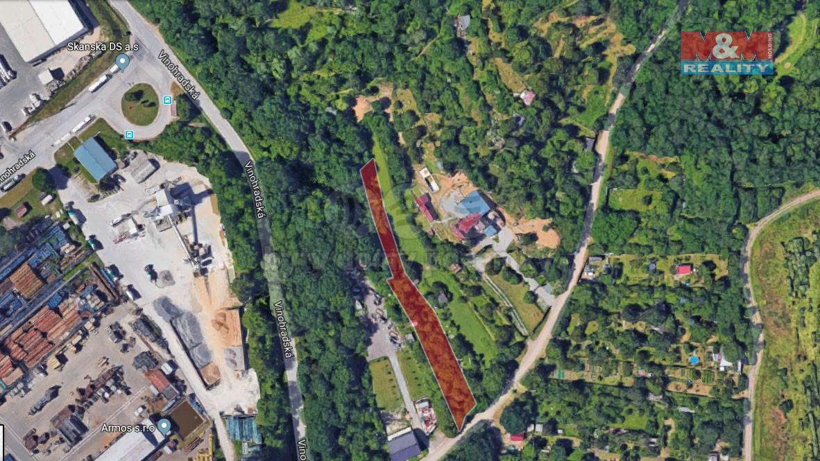 Prodej, zahrada, 1286 m2, Brno - Černovice