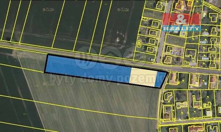 Prodej, stavební pozemek, 7062 m2, Staré Jesenčany