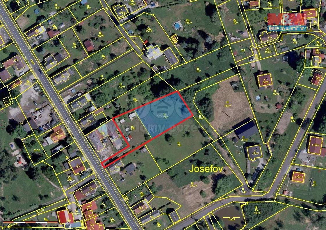 Prodej, stavební pozemek, 2033 m2, Josefov