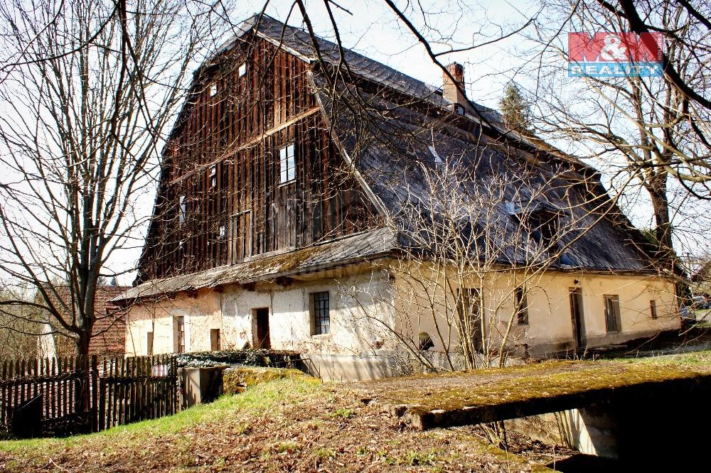 Prodej, chalupa, objekt bývalého mlýna, 4 664 m2