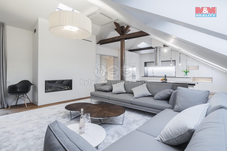 Prodej, mezonetový byt 4+kk, 203 m2, Praha, ul. Hálkova