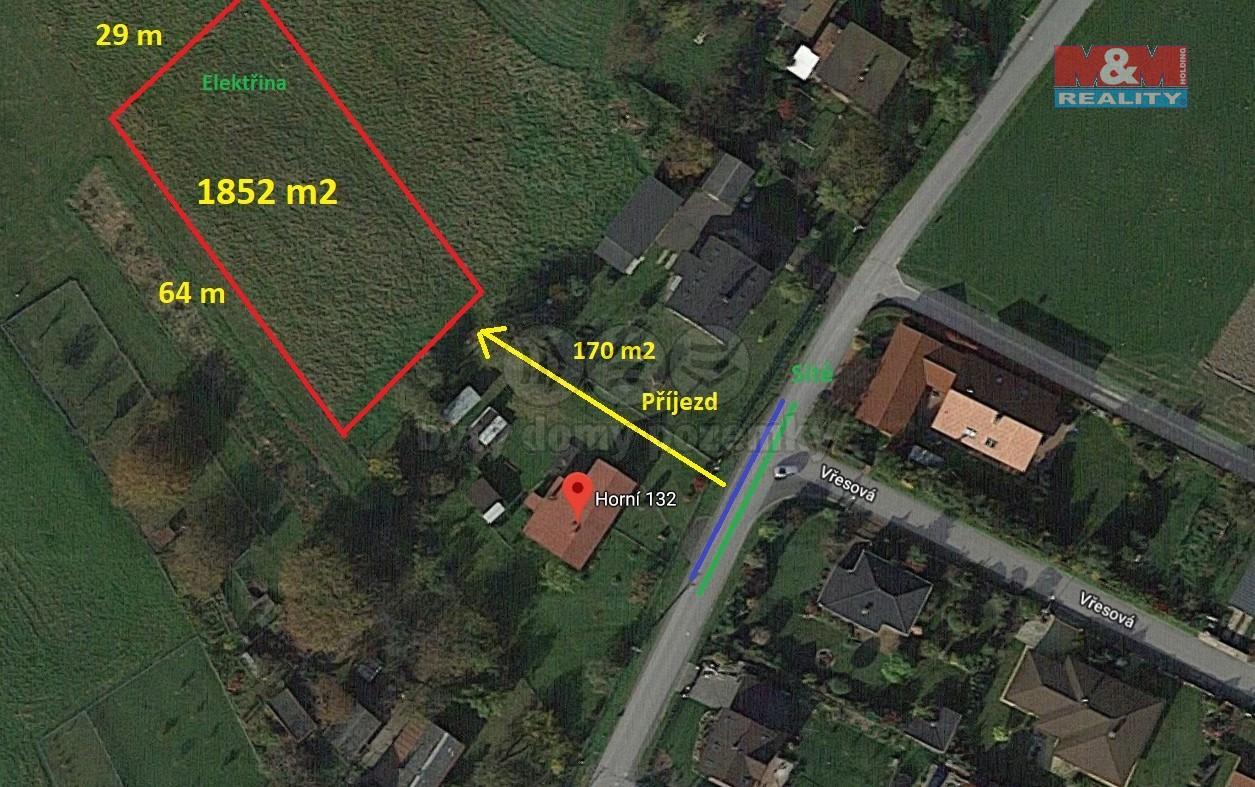 Prodej, stavební parcela, 2022 m2, Lískovec