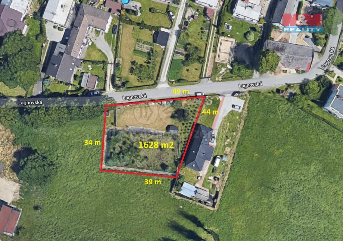 Prodej, stavební parcela, 1628 m2, Klimkovice