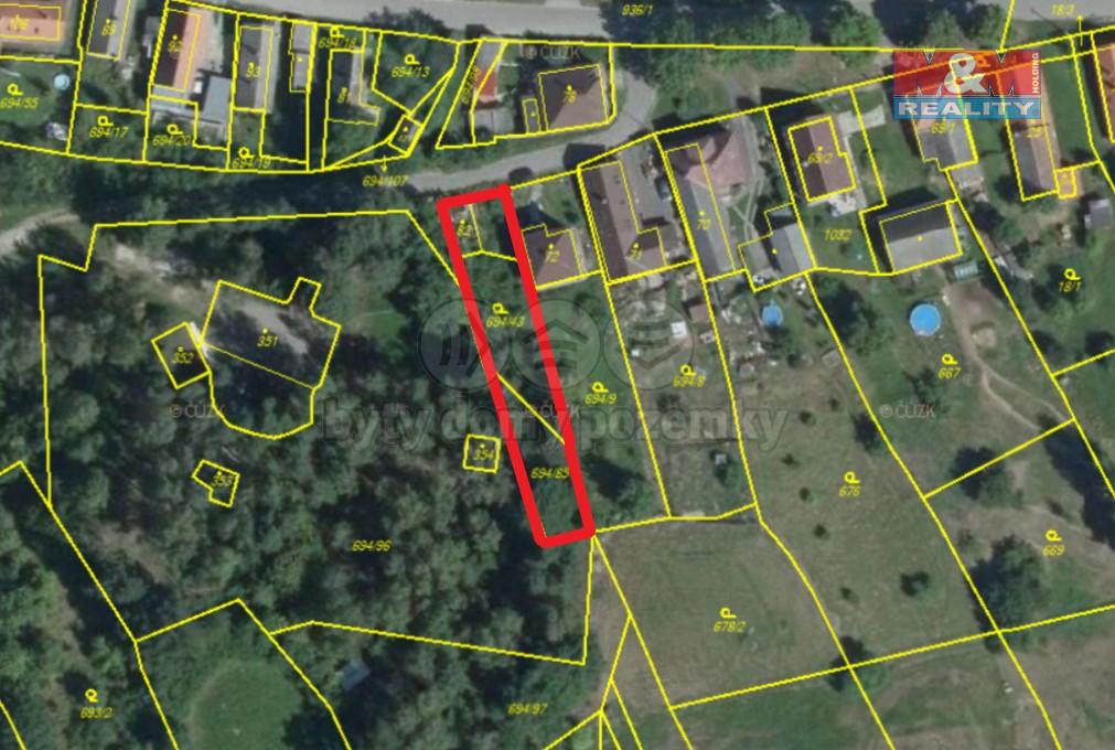 Prodej, stavební pozemek, 758 m2, Újezd