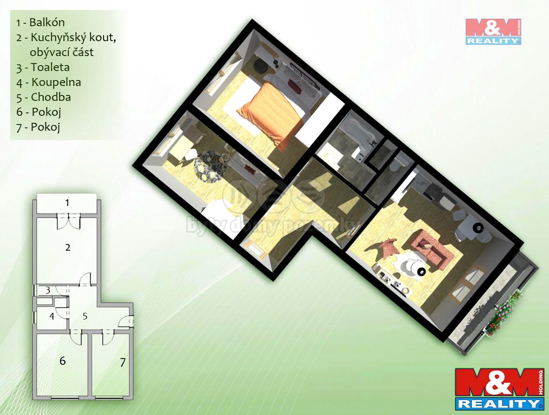 Prodej, byt 3+kk, 83 m2, Oslavany, Brno - venkov