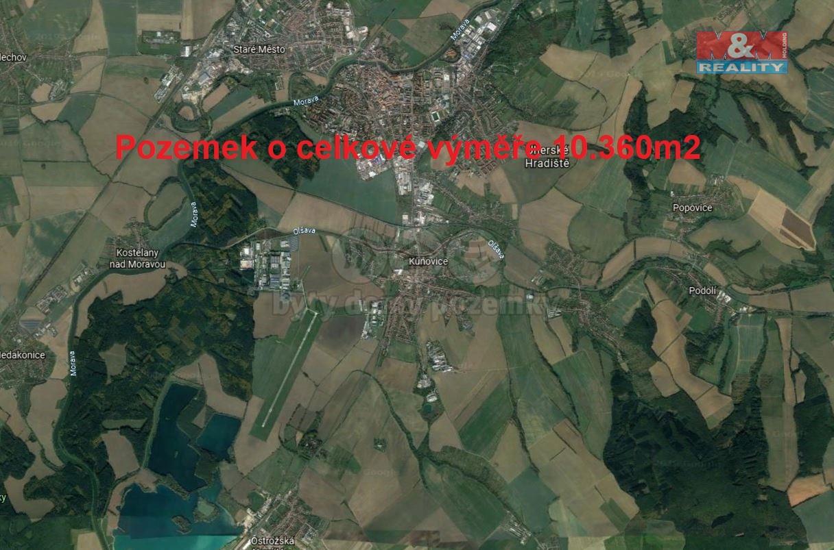 Prodej, pole, 10360 m2, Kunovice u Uherského Hradiště