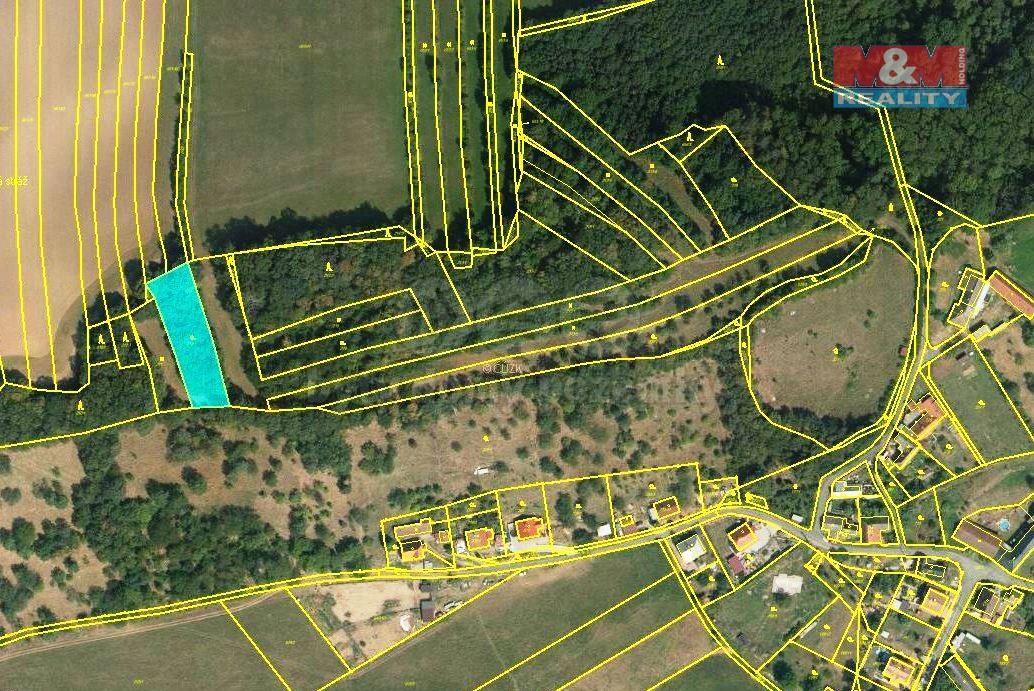 Prodej, zahrada, 1191 m2, Choryně