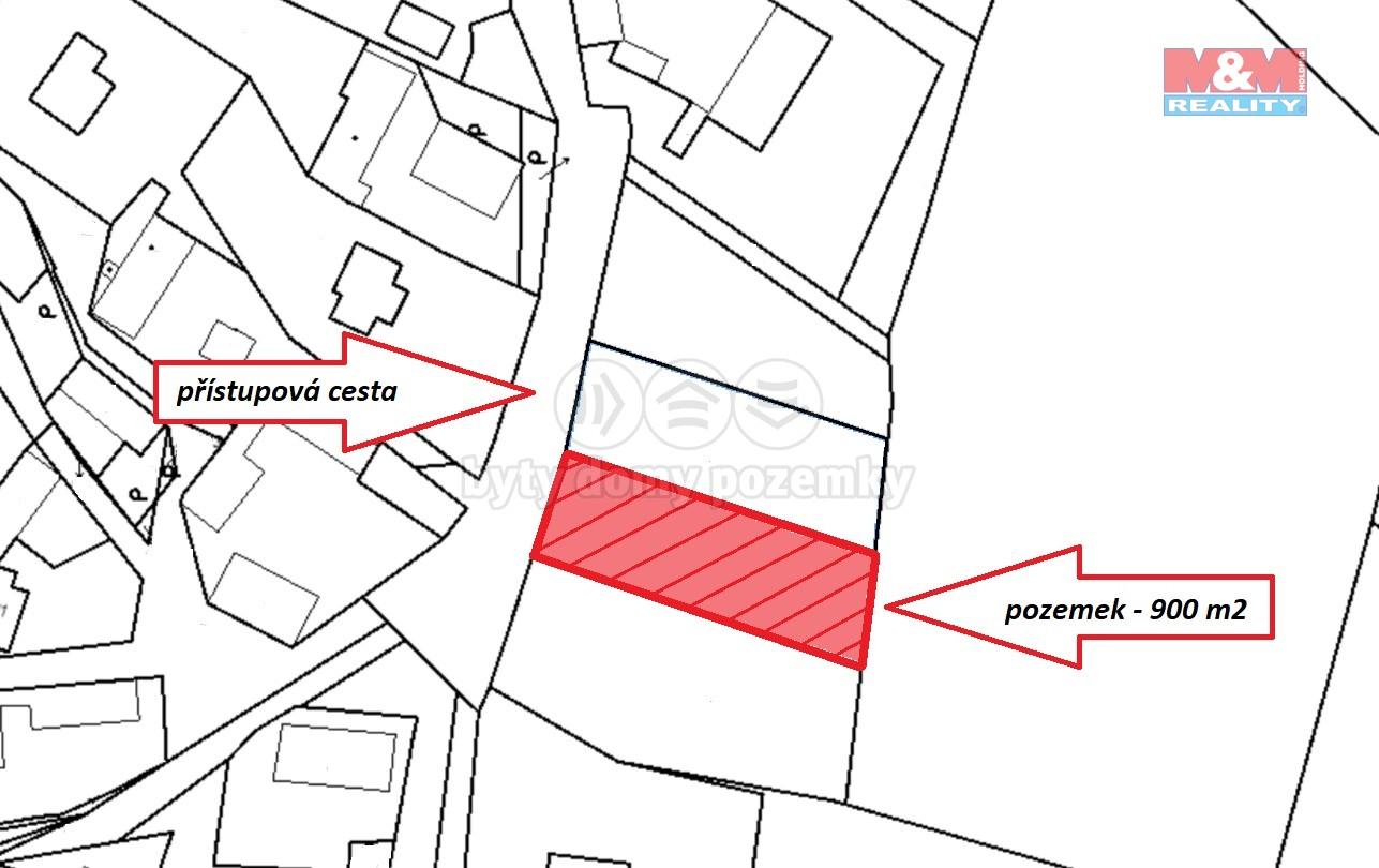 (Building lot, 900 m2, Příbram, Drhovy)