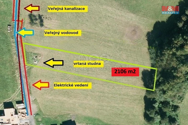 Prodej, stavební pozemek, 2106 m², Hutisko - Solanec